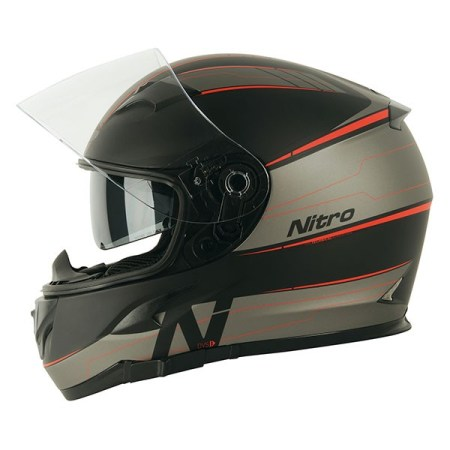 Nitro N2300 Axiom Motorcycle Helmet - Red