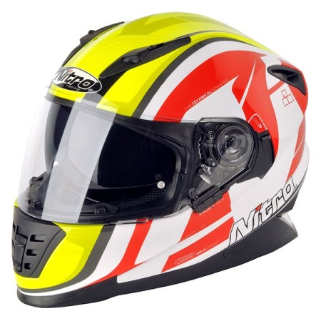 Nitro NRS-01 Pursuit Motorcycle Helmet - White