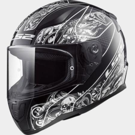 LS2 FF353 Rapid Crypt Motorcycle Helmet Black