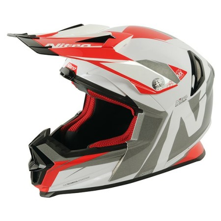 Nitro NRS MX Advance Motocross Helmet - White