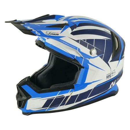 Nitro NRS MX Lithium Motocross Helmet - Matt Blue