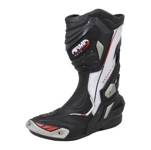 Armr Moto Harada R Motorcycle Boots White