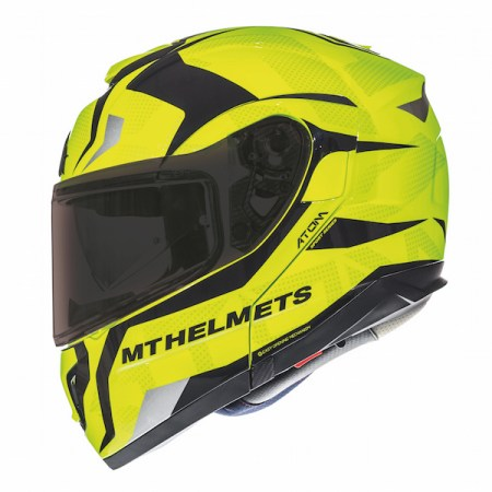 MT Atom SV Divergence Motorcycle Helmet - Yellow