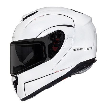 MT Atom SV Motorcycle Helmet Gloss White
