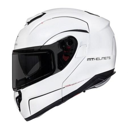 MT Atom SV Motorcycle Helmet - Gloss White
