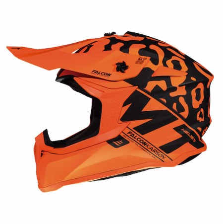 MT Falcon Karson Motocross Helmet - Matt Orange