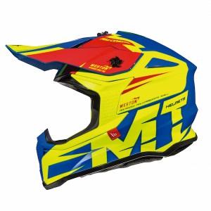 MT Falcon Weston Motocross Helmet Yellow