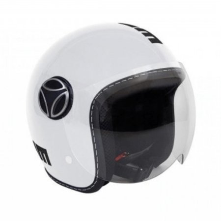 Momo Fighter Baby Motorcycle Helmet - Gloss White