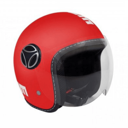 Momo Fighter Baby Motorcycle Helmet - Matt Red