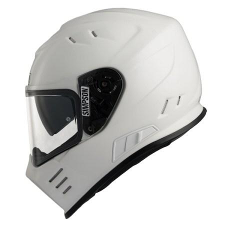 Simpson Venom Motorcycle Helmet - Gloss White