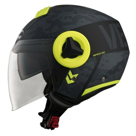Vemar Breeze Camo Motorcycle Helmet - Yellow