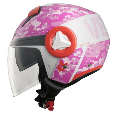 Vemar Breeze Camo Motorcycle Helmet - Pink
