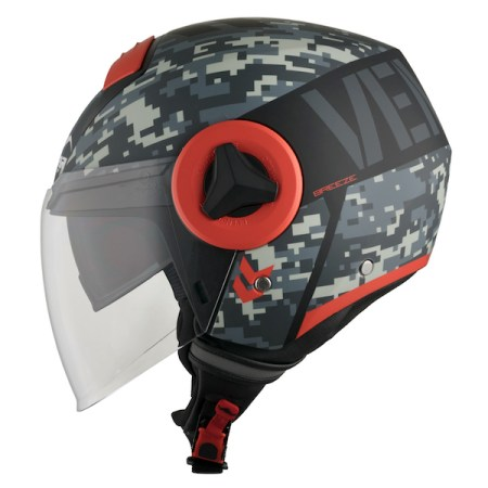 Vemar Breeze Camo Motorcycle Helmet - Matt Grey