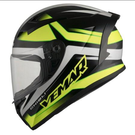 Vemar Ghibli Base Motorcycle Helmet - Yellow