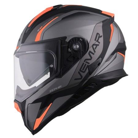 Vemar Zephir Lunar Motorcycle Helmet - Matt Orange