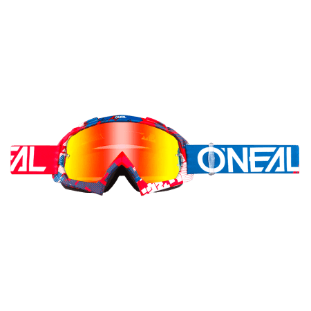 B-10 Goggle PIXEL red/blue - radium