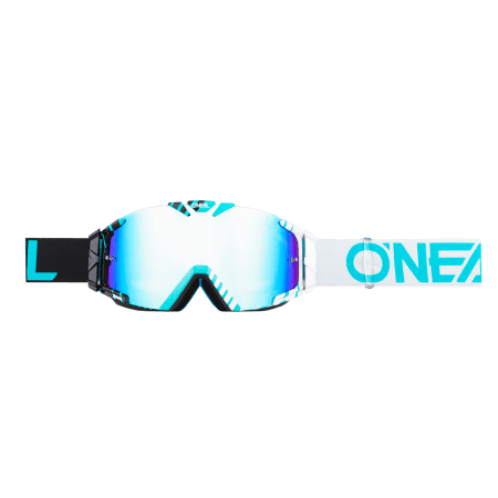B-30 Goggle DUPLEX black/white/teal - radium
