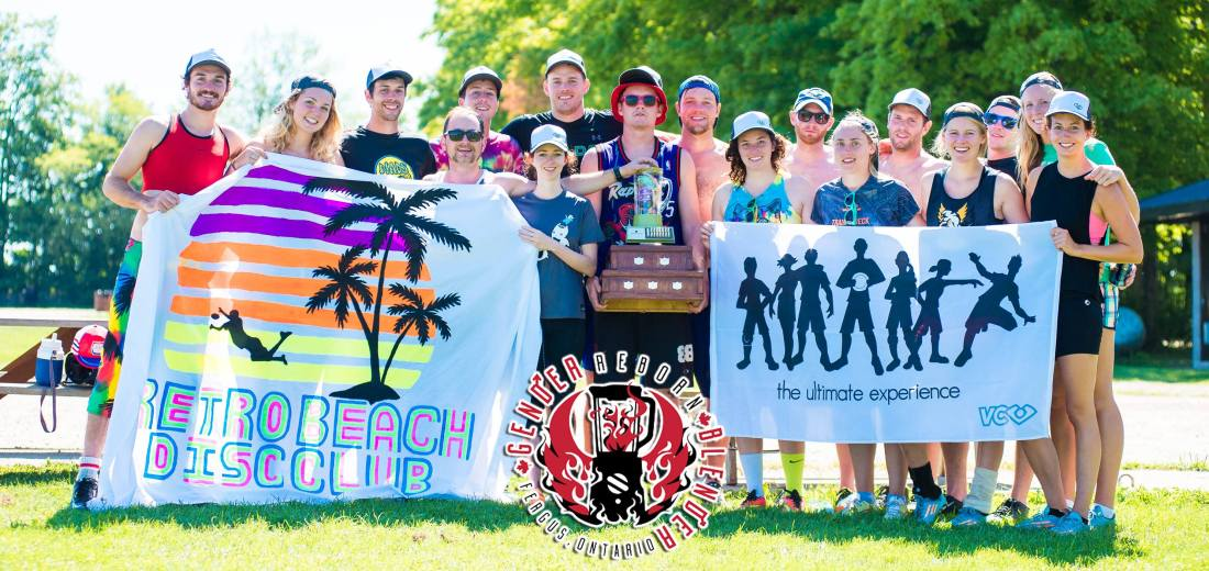 Retro Beach Disc Club winning Gender Blender 2016