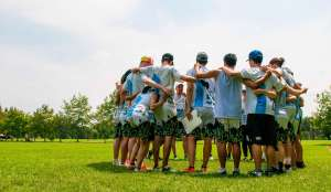 Union Ultimate in a huddle