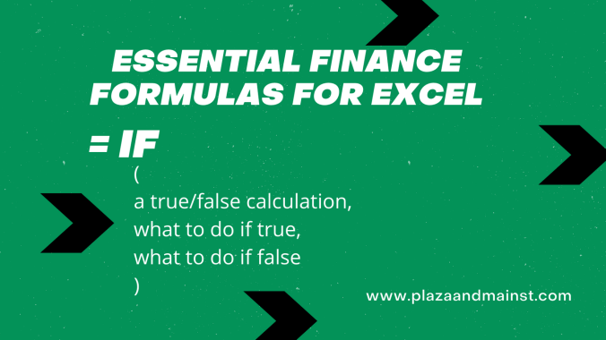 formulas in excel IF