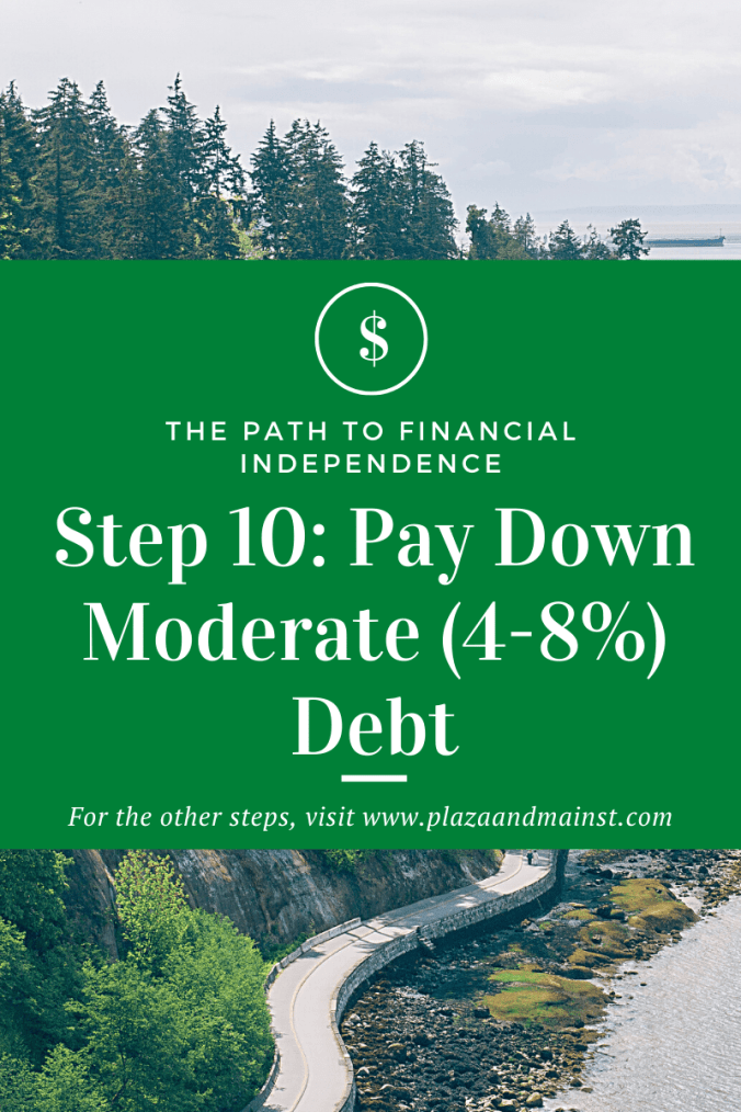 pay down moderate debt