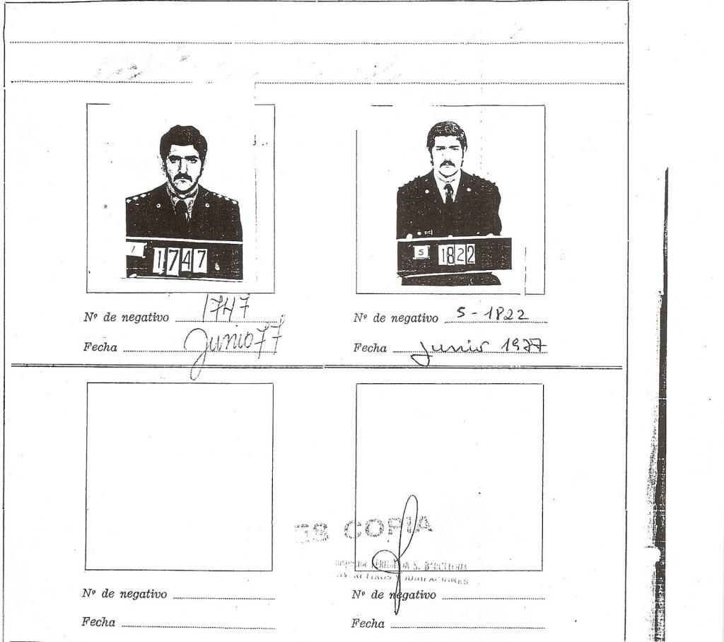 Foto de Rolando Oscar Nerone en su legajo personal de la Policía Federal
