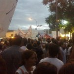 Manifestantes piden fin del convenio y renuncia de Beder. La Osisko insiste con la mina.