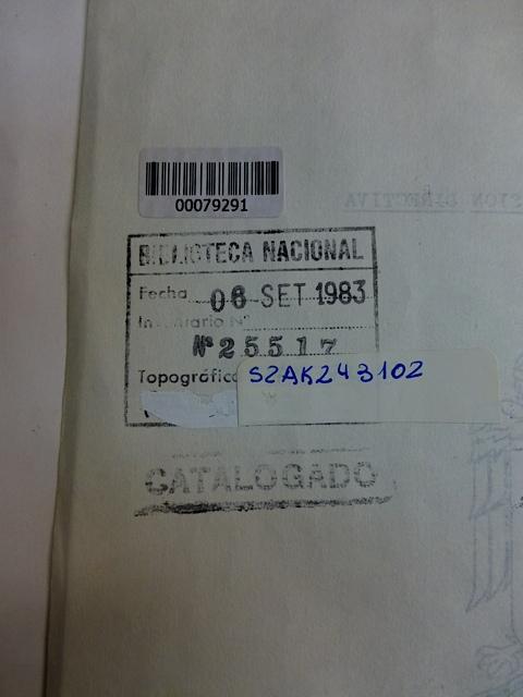Número de inventario y fecha de aprobación del ejemplar donado en 1979 Ambas cosas ocurrieron durante la dictadura