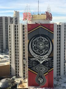 Shepard Fairey Downtown Mural Plaza Hotel & Casino