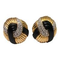 Onyx Gold Diamond Earrings from Plaza Jewellery