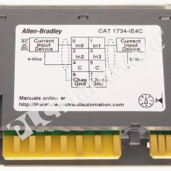 Allen Bradley Plc Wiring Diagrams Addressable Fire Alarm System Diagram Hardware 1734 Ie4c Series C Used In A