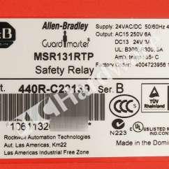 Allen Bradley Safety Contactor Wiring Diagram Automotive Lighting System New 440r C23139 B Relay 3 N O Safe