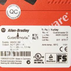 Allen Bradley Guardmaster Safety Relay Wiring Diagram Human Muscle Cell Plc Hardware 440r D22r2 Series A New