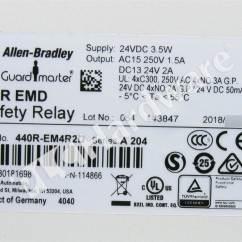 Allen Bradley Guardmaster Safety Relay Wiring Diagram Echo Pb 200 Parts Plc Hardware 440r Em4r2d