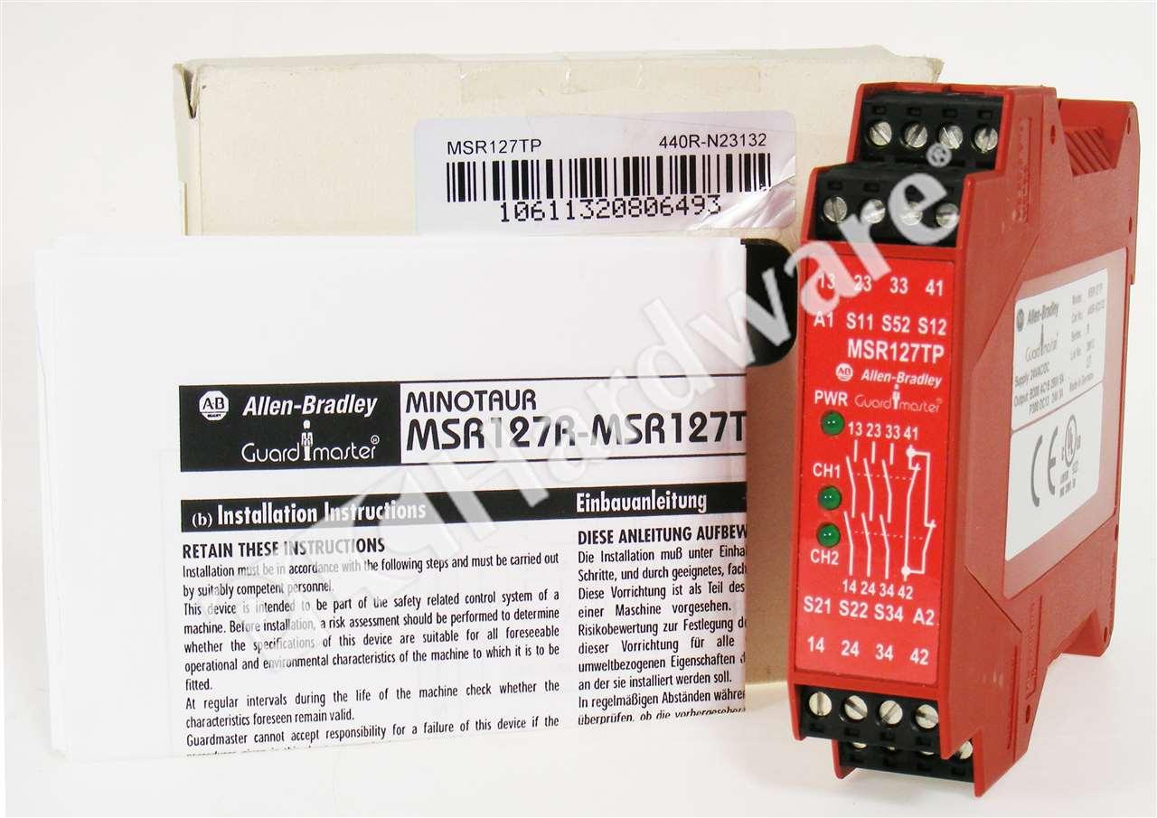 allen bradley safety contactor wiring diagram 7 pin n type trailer plug uk new 440r n23132 b relay msr127tp