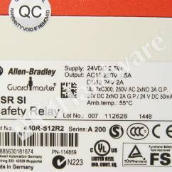 Allen Bradley Guardmaster Safety Relay Wiring Diagram House Electrical Symbols Plc Hardware 440r S12r2 Single
