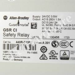 Allen Bradley Guardmaster Safety Relay Wiring Diagram Fred S Influence Plc Hardware 440r S13r2 Series A New