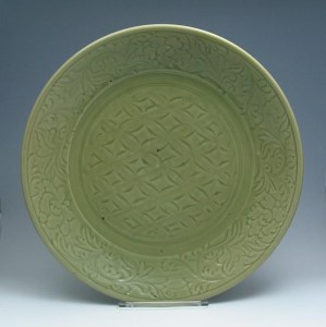 Ming Lonquan Celadon Charger