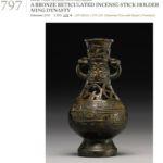 Ming bronze incense holder