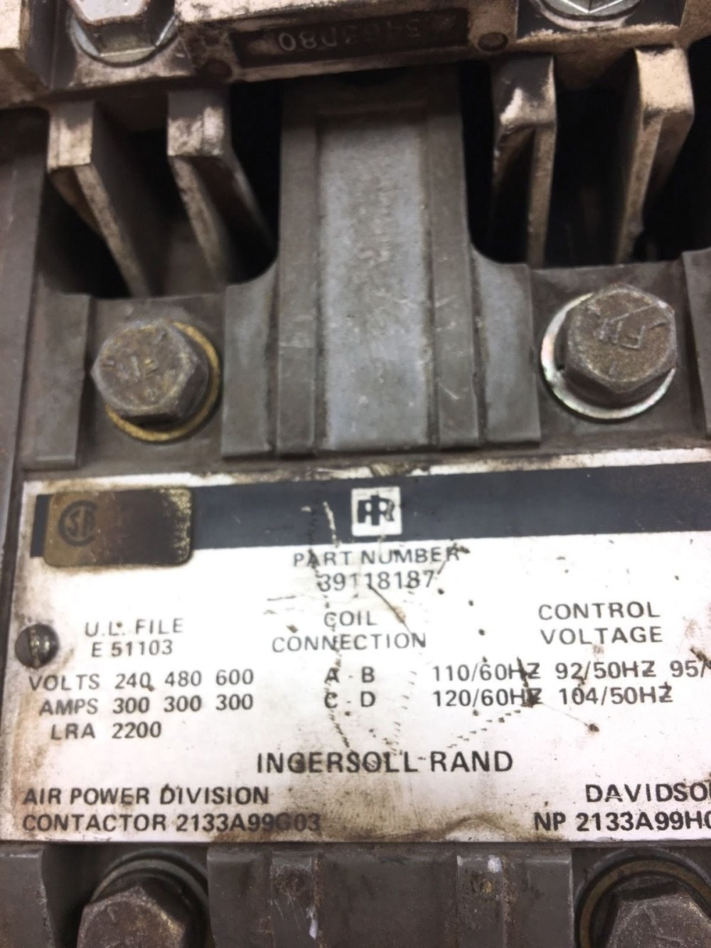 medium resolution of used good condition ingersoll rand 39118187 contactor 300amp starter b368 2