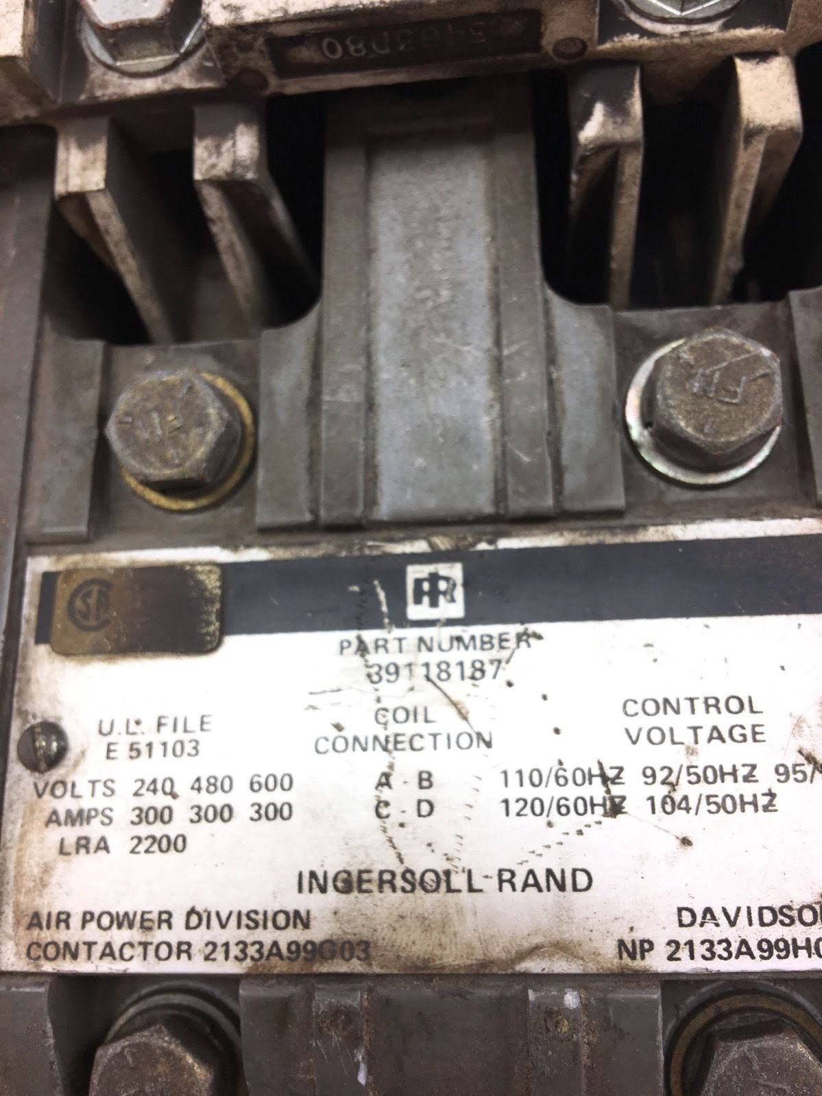 hight resolution of used good condition ingersoll rand 39118187 contactor 300amp starter b368 2