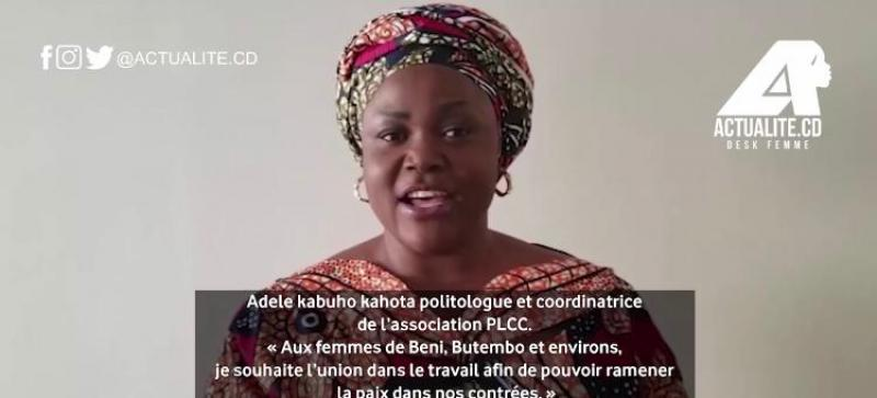 Activist Adèle Kahota calls on women in Beni, Butembo and the surrounding area to work for peace