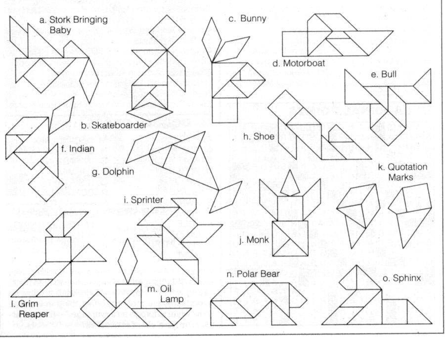 Tangram Para Imprimir Figuras Sketch Coloring Page