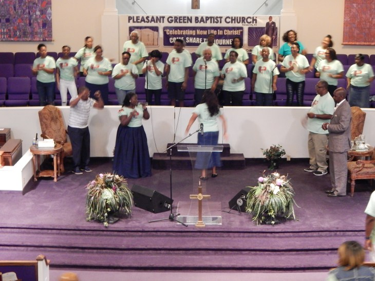 The Pleasant Church Choir on Church Anniversary