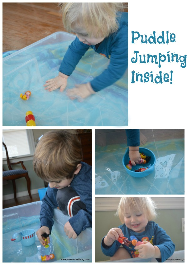 Rainy day indoor toddler activity