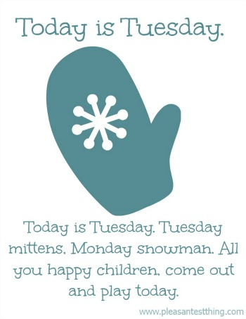 Winter song for kids: Today is Monday