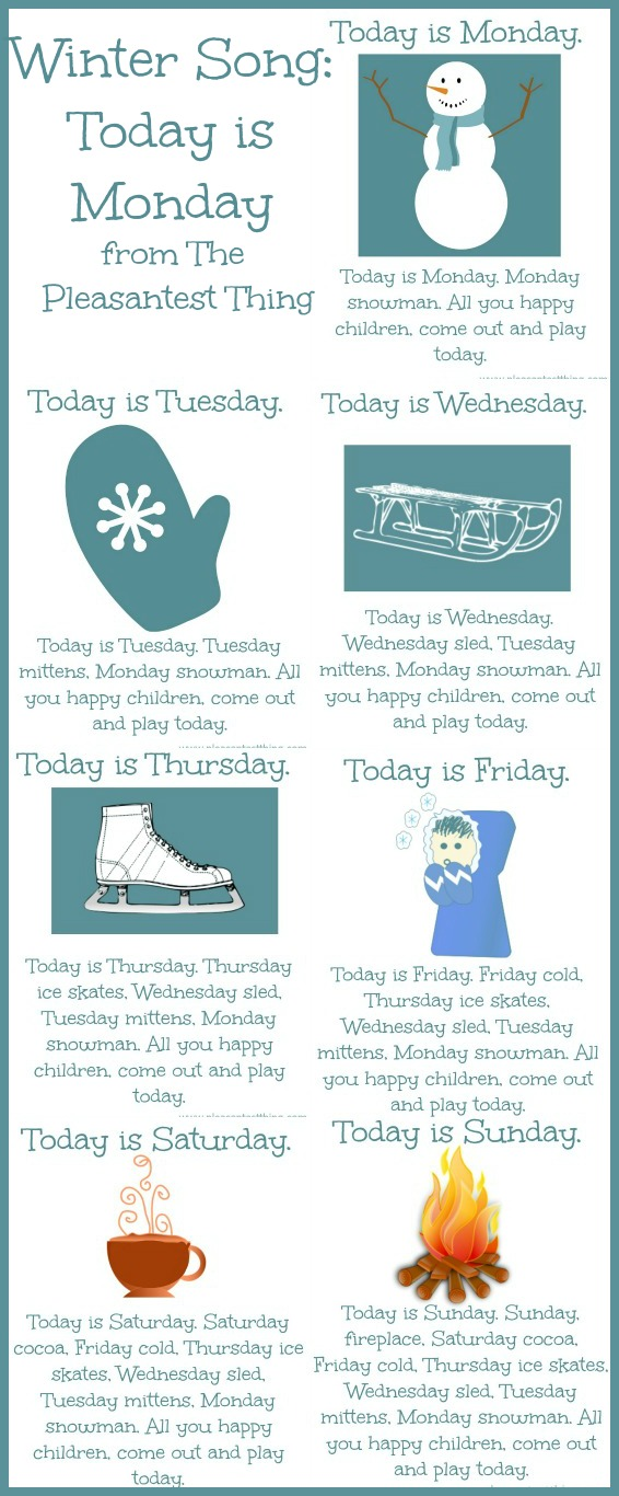 Winter Song: Today is Monday