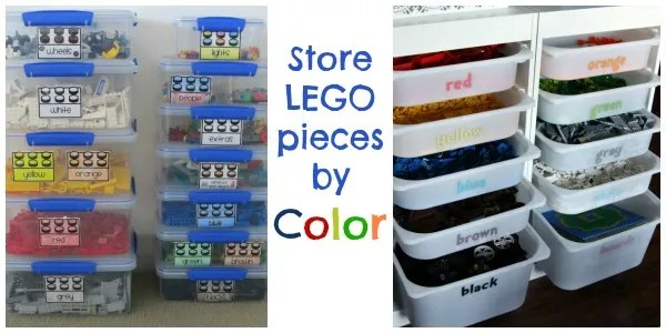 organize LEGO by color
