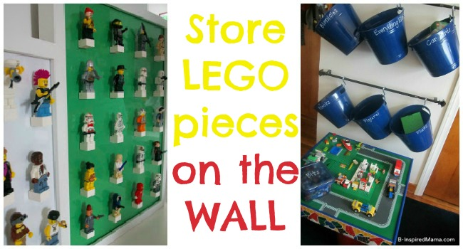 store LEGO pieces on wall