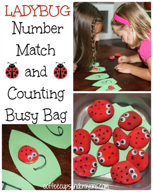 Busy Bag Activity--Ladybug Number Identification